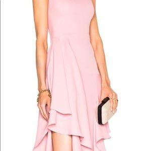Alexander McQueen Foxglove Draped Silk Dress